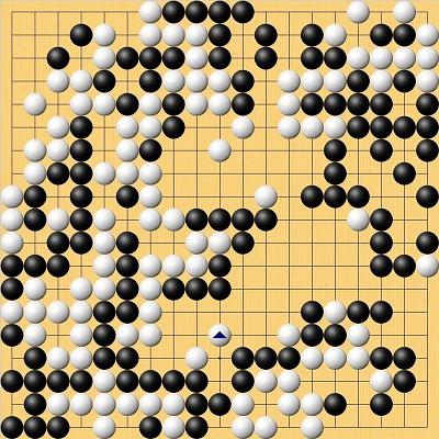 王座戦第1局終局図